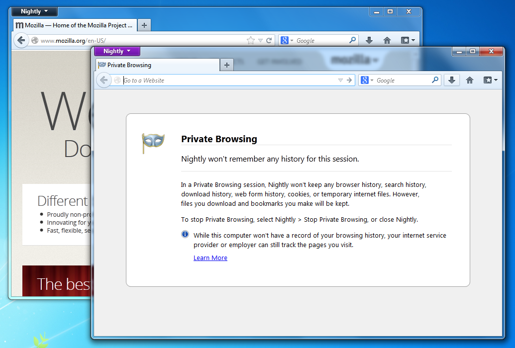 Per-window private browsing ready for testing now! – Ehsan Akhgari