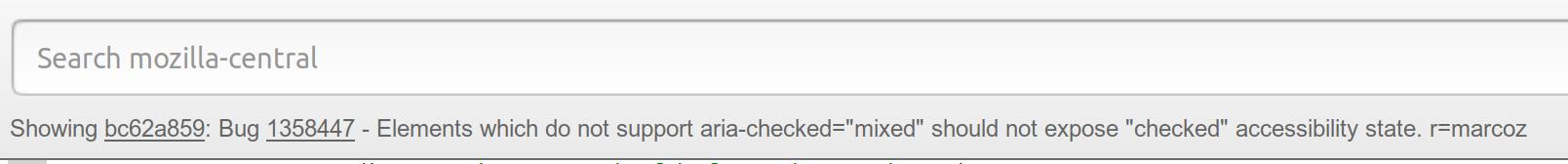 Searchfox changeset header